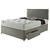Silentnight Miracoil Luxury Ortho Tufted 4 Drawer Double Divan Mink With Headboard