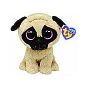 """Ty Beanie Boo 6"""" Plush -Dog Pug Pugsly"""