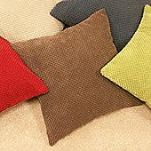 Dreams N Drapes Curtina Chenille Spot Cushion - Chocolate - No