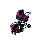 Red Kite Push Me Fusion + Mosquito Net Travel System (Plum)