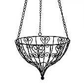 Small Round Hanging Metal Decorative Garden Planter Accessory