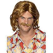 70s Super Trouper Wig & Moustache
