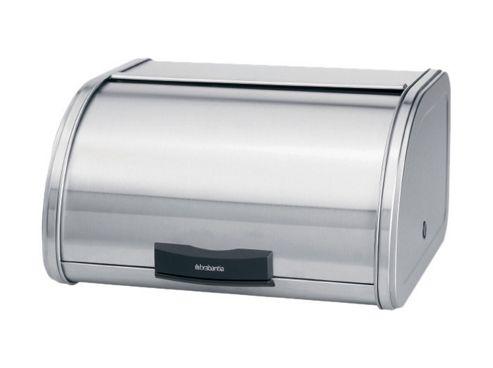 Brabantia Touch Bread Bin - Matt Steel