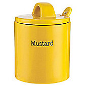 Tesco Mustard Jar with Spoon, Yellow