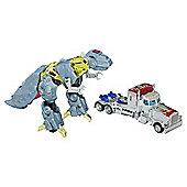 Transformers Age of Extinction Silver Knight Optimus Prime and Grimlock