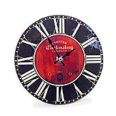 'Fletcher' Black Glass Wall Clock with Roman Numerals for the Home