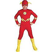 Child The Flash Super Hero Fancy Dress Costume Large