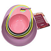 Tesco Pastel Melamine Measuring Cups Set 4