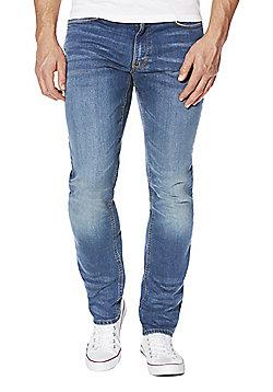 F&F Mid Wash Slim Fit Stretch Jeans - Mid wash