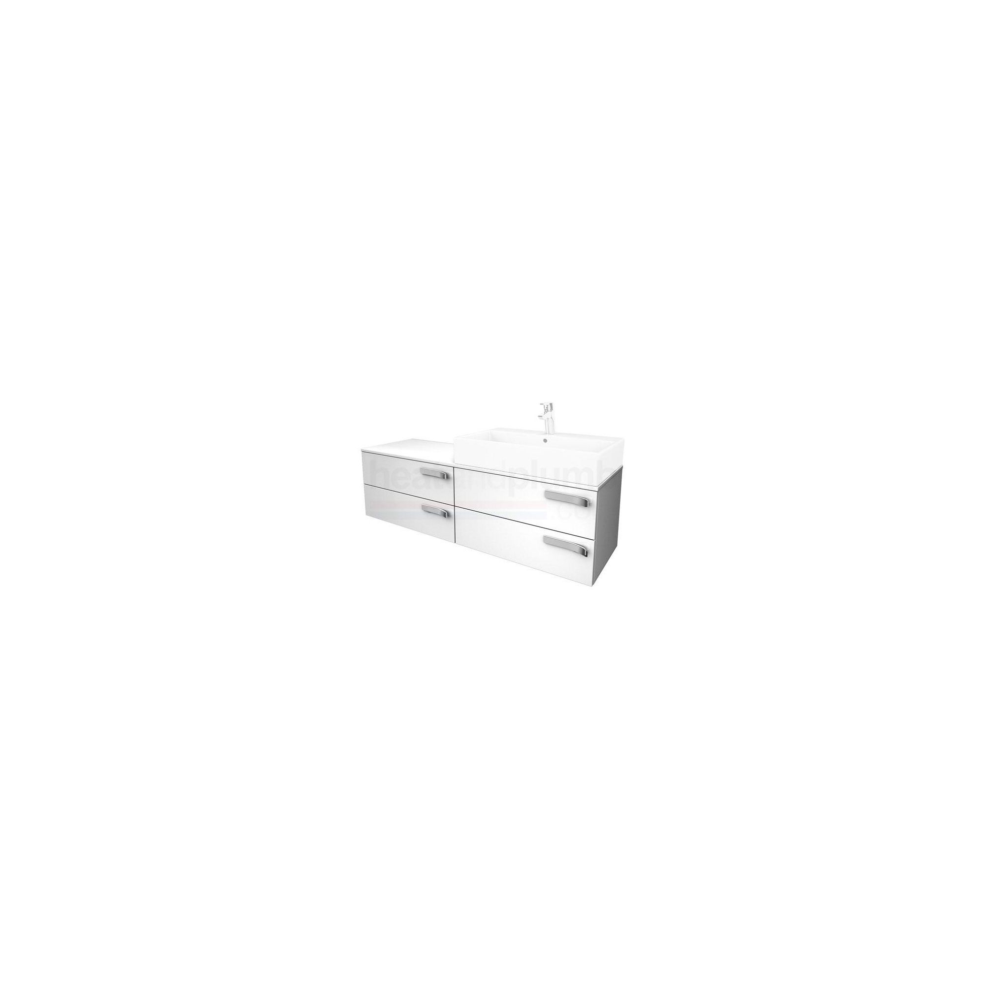 Ideal Standard Strada Combination Storage Unit 1400mm Wide Right Handed Gloss White