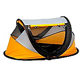 NSAuk Deluxe Pop Up Travel Cot Large Yellow 0-4 Years
