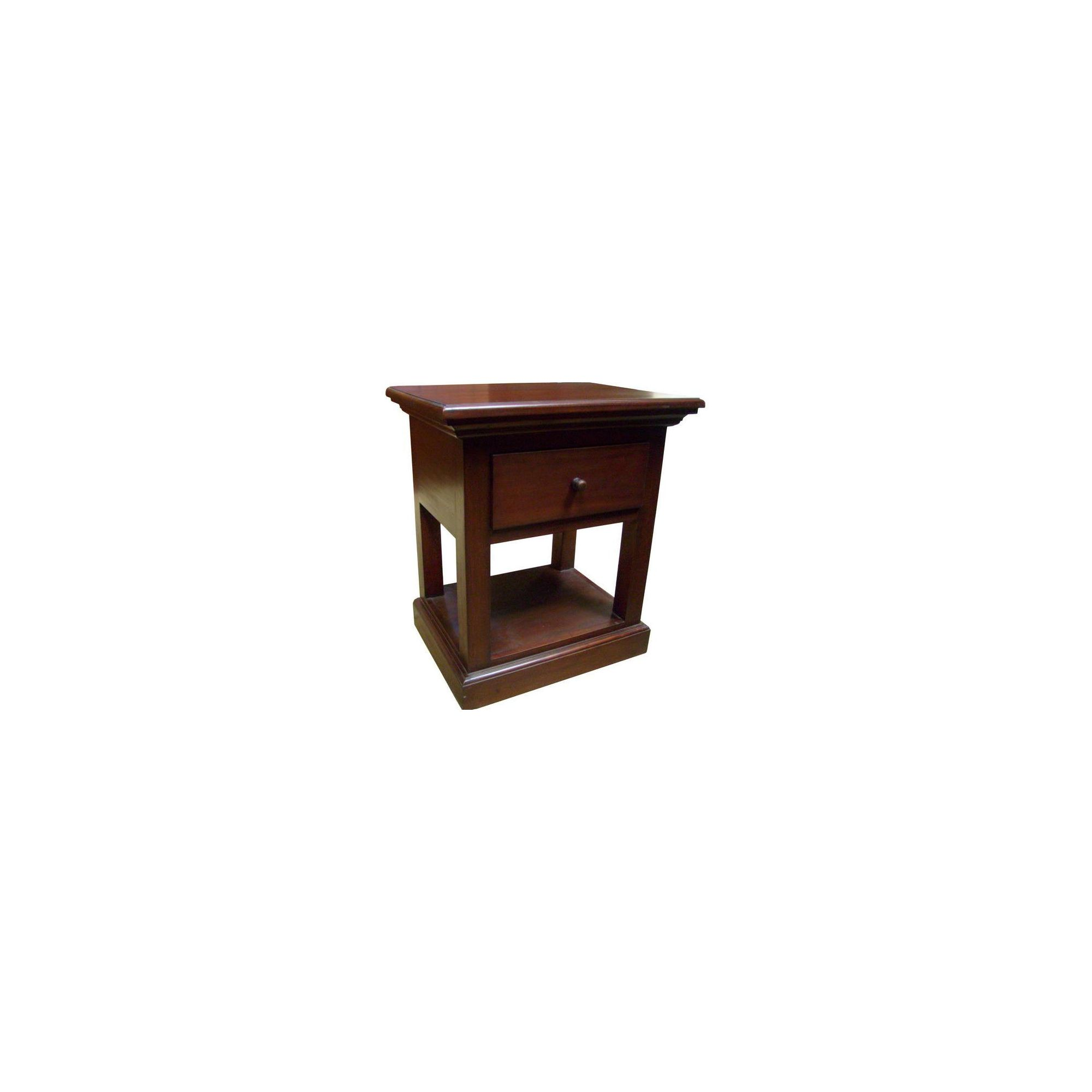 Lock stock and barrel Mahogany Corniche 1 Drawer Lamp Table in Mahogany at Tesco Direct