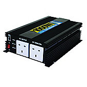 1000W DC 12V To AC 230V Power Inverter Twin Socket