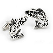 Leaping Fish Novelty Themed Cufflinks