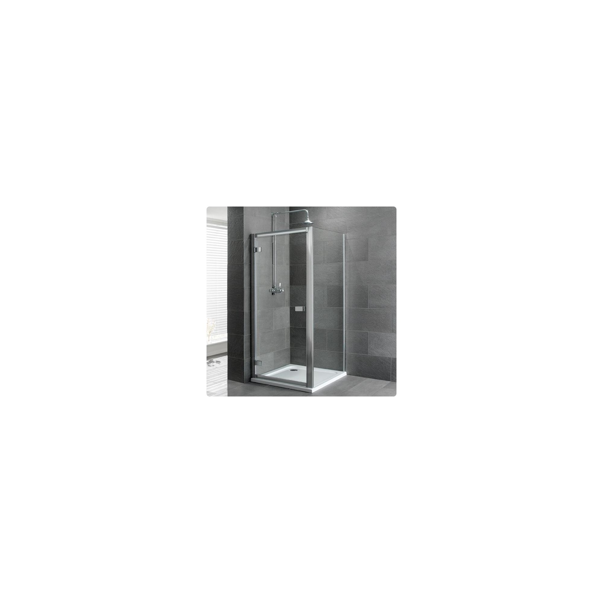 Duchy Select Silver Hinged Door Shower Enclosure, 800mm x 800mm, Standard Tray, 6mm Glass at Tesco Direct