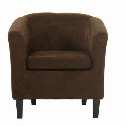 Buy Mayfair Chocolate Brown Suede Tub Chair from our ...