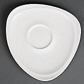 """Royal Porcelain Mood Saucer 160(H)x 165(W)mm (6 1/4x 6 1/2""""). White X 12."""