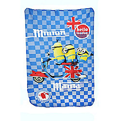 Minions Hello London Panel Fleece Blanket