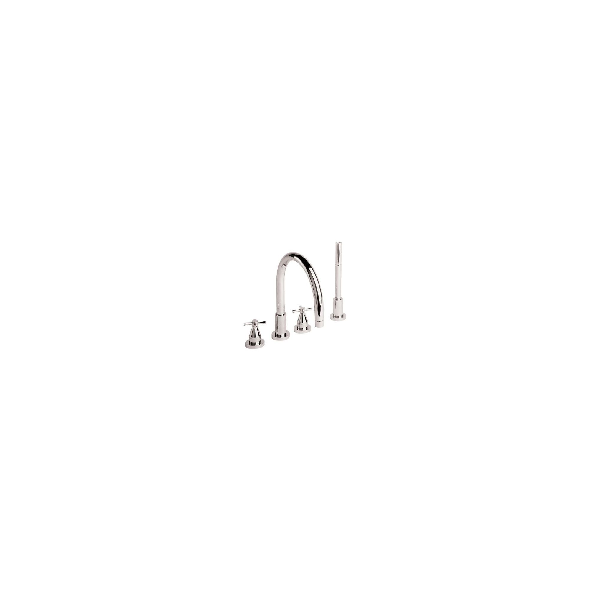 Twyford Rival 4 Hole Bath Shower Mixer Tap Chrome at Tesco Direct