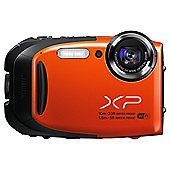 Fuji XP70 Digital Camera, Orange, 16.4MP 5x Optical Zoom, 2.7 LCD Screen, Underwater Camera