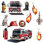 Fire Station Wall Stickers