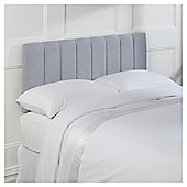 Seetall Haddon Headboard Linen Effect Light Grey Double