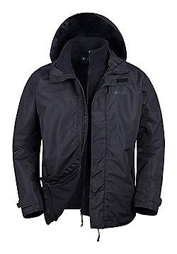 Fell Mens 3 in 1 Water Resistant Jacket - Black