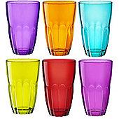 Bormioli Rocco Ercole Coloured Tumbler Glasses - 370ml - Multi Coloured -x 6