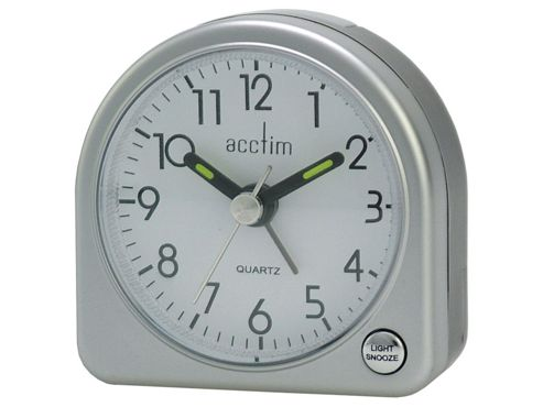 Acctim 12357 Mini Arched Alarm Clock  Silver