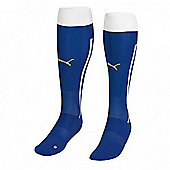 2014-15 Italy Home Puma Football Socks (Blue) - Kids - Blue