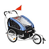 Confidence Folding Baby Stroller/Buggy W/ Suspension For Jogging/Attach To Bike Blue