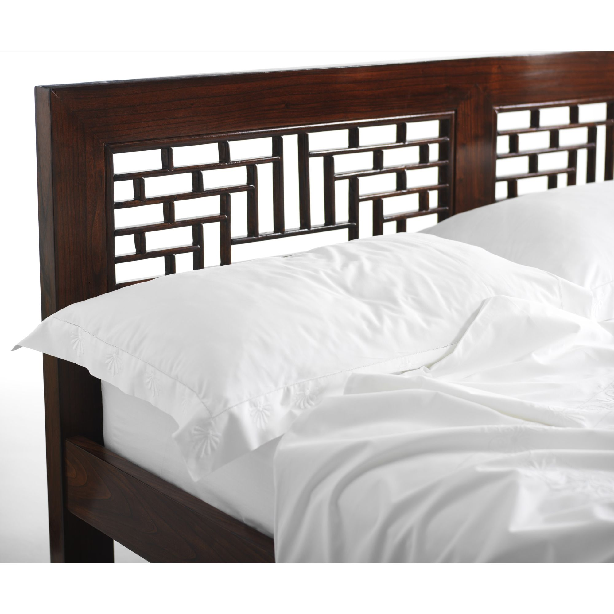 Shimu Chinese Classical Ming Carved Bed - Warm Elm at Tesco Direct