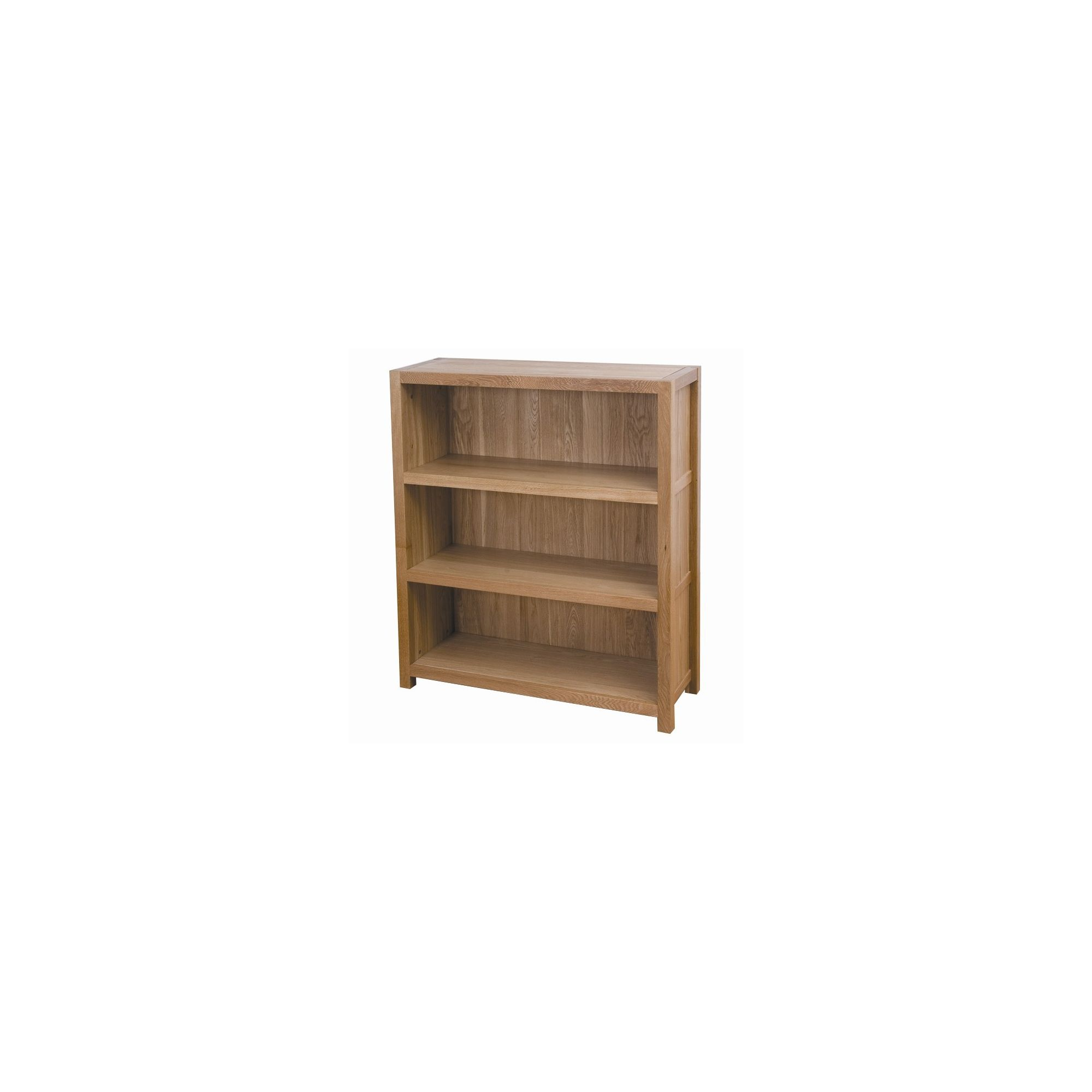 G&P Furniture Low Oak Bookcase at Tesco Direct