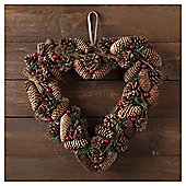 TESCO CONE HEART WREATH 14 INCHES