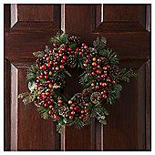 Tesco Cone Heart Wreath, 2ft