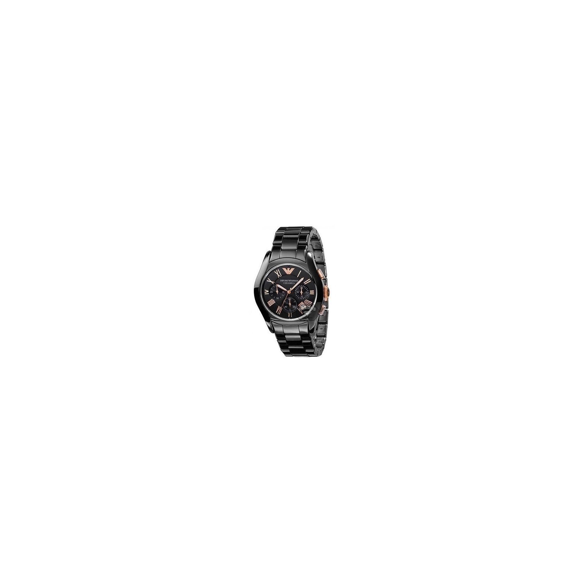 Emporio Armani Ceramica Chrono Watch AR1410 at Tesco Direct