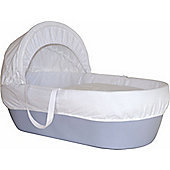 Shnuggle Basket Sky Blue With White Waffle Dressings