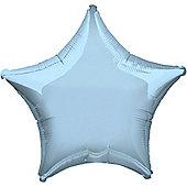 Pastel Blue Star Balloon - 32' Pearl Foil (each)