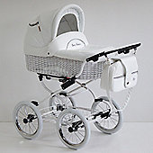 Scarlett Retro Baby 3in1 Travel System - White - White Wicker