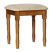 Altruna Scandinavian Dressing Table Stool - Pine