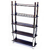 Techstyle 5 Tier DVD Blu-ray / CD / Media Storage Shelves - Black