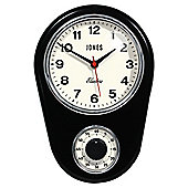 Jones & Co Kitchen Timer Clock Black