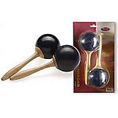 A-Star Traditional Fibre Maracas - Black