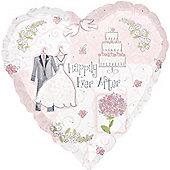 18' Sweet Romance Heart Foil (each)