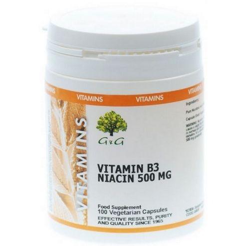 Niacin Vitamin B3 500mg Trufil Capsules
