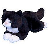 Dowman Tuxedo 26cm Black And White Cat Plush Soft Toy