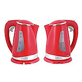 Lloytron E895RD 1.7 litre 2.2kw 360 Cordless Kettle - Red