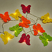Butterfly 10 LED Battery Operated String Lights in Multi Coloured