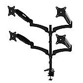 Duronic DM554 Spring Quad Four LCD LED Sprung Desk Mount Arm Monitor Stand