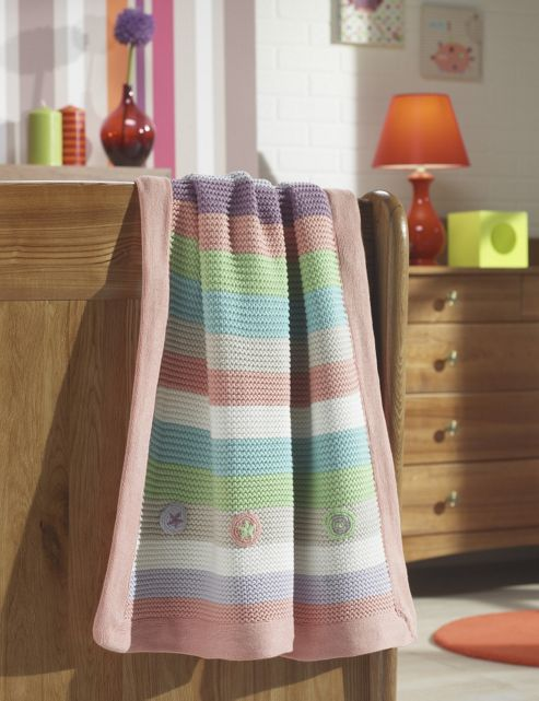 Lollipop Lane Prickles and Twoo Knitted Pram Blanket